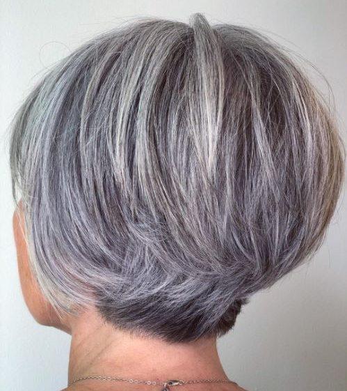 Pixie kurze graue Frisuren