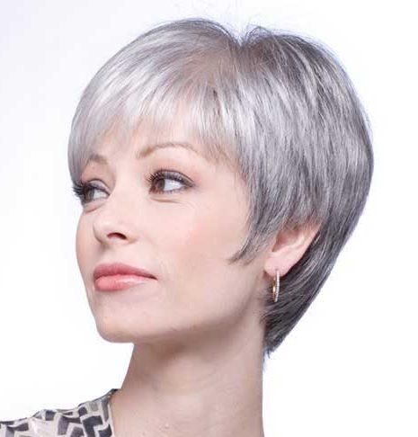 Kurze Frisuren für graue Haare Galerie