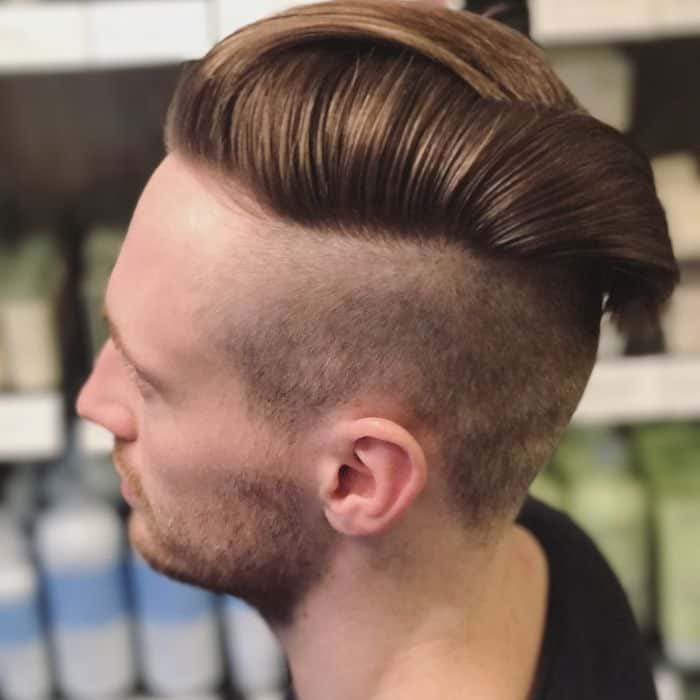 Disconnected Undercut Slicked Back