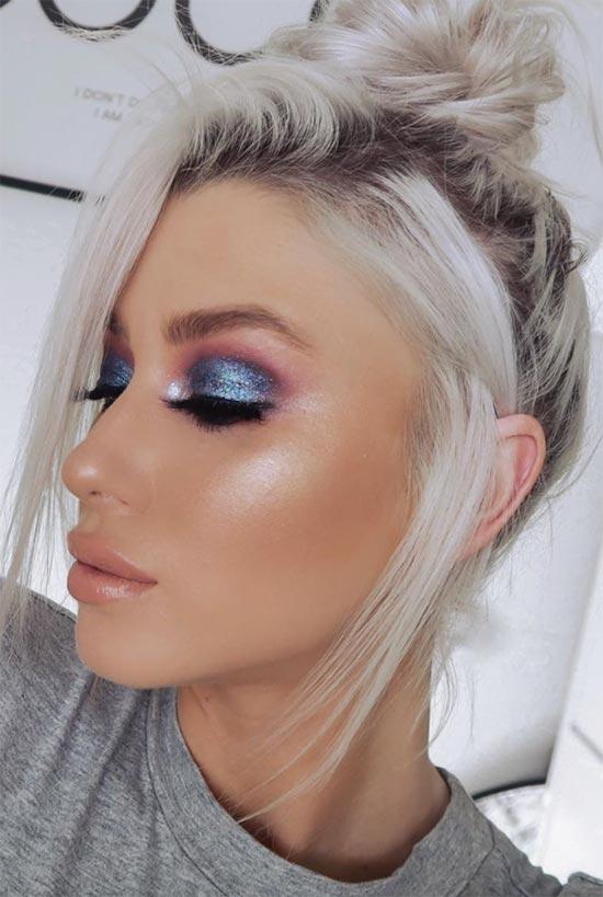 So tragen Sie Metallic Eyeshadow auf