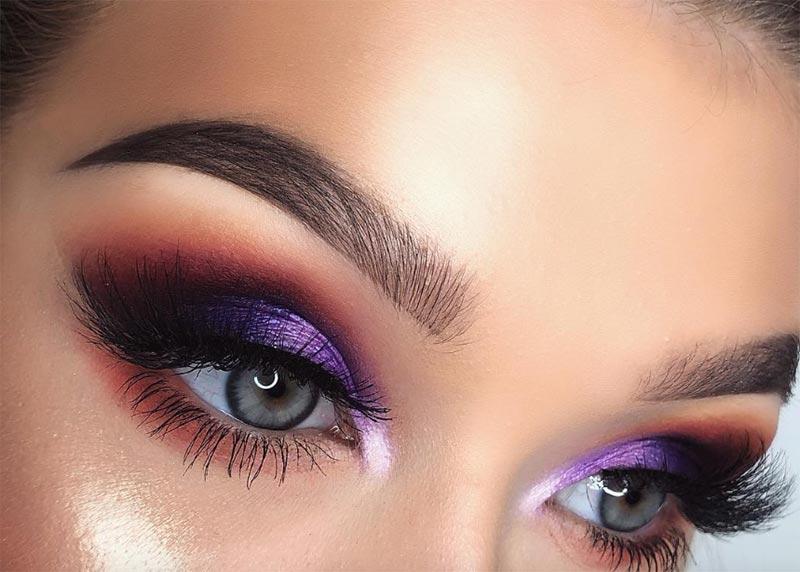 Lila Augen Make-up Tipps