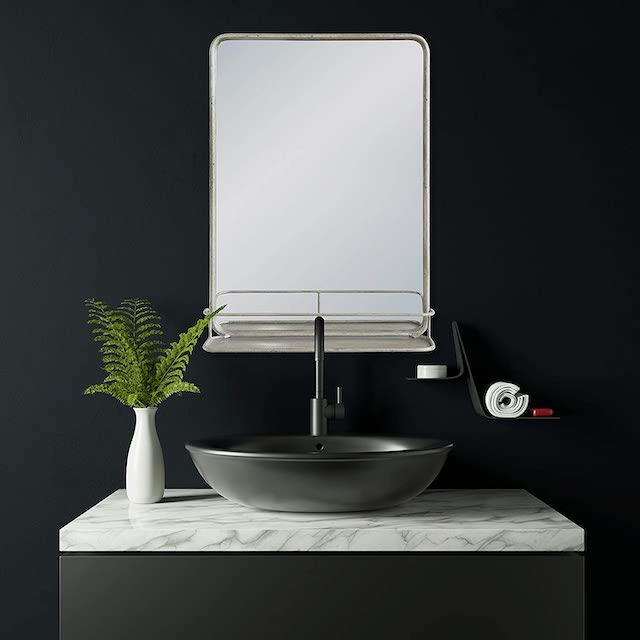 Kreativer Koop-Rechteck-Metallwandspiegel