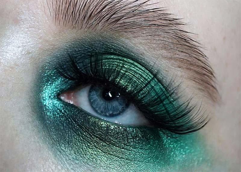 Wie man Green Eye Makeup trägt