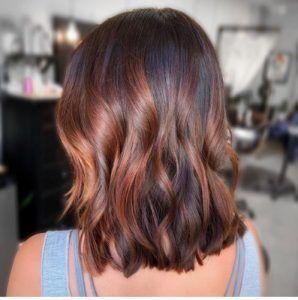 Auburn und braunes Haar