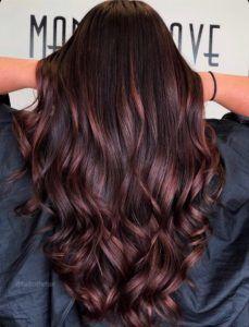 Auburn Mahagoni Haar