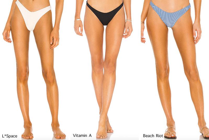 Bademoden-Trends Frühjahr / Sommer 2021: Bikini-Unterteile im V-Stil