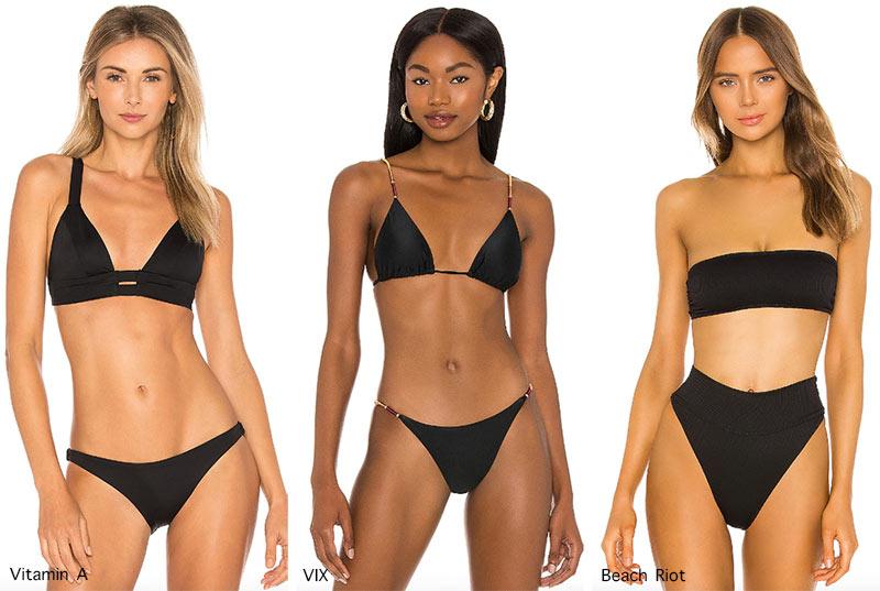 Bademoden-Trends Frühling / Sommer 2021: Kleine schwarze Bikinis