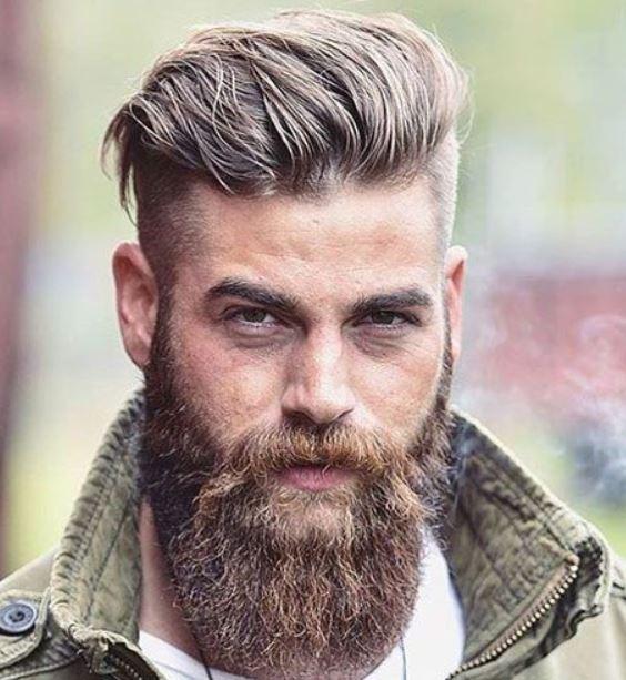 Seite gereinigt Kurzes Haar Mit schönem Bart
