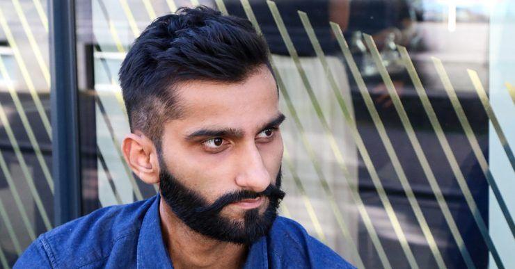 Mann mit einem frischen Haarschnitt