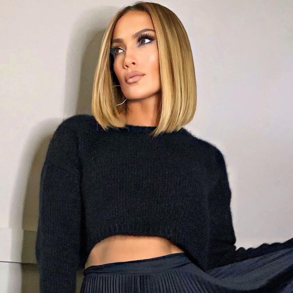 Jennifer Lopez Abgerundeter Lob-Haarschnitt