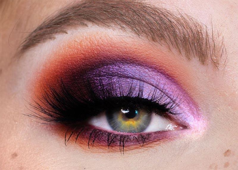 Wie man lila Lidschatten trägt
