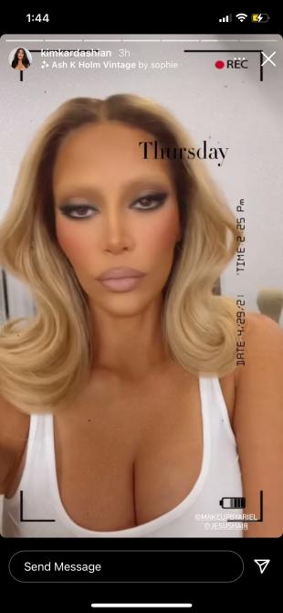 Kim Kardashian Blondine