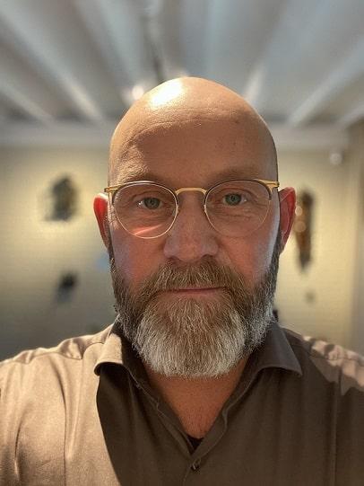 Ingwerbart mit Glatze