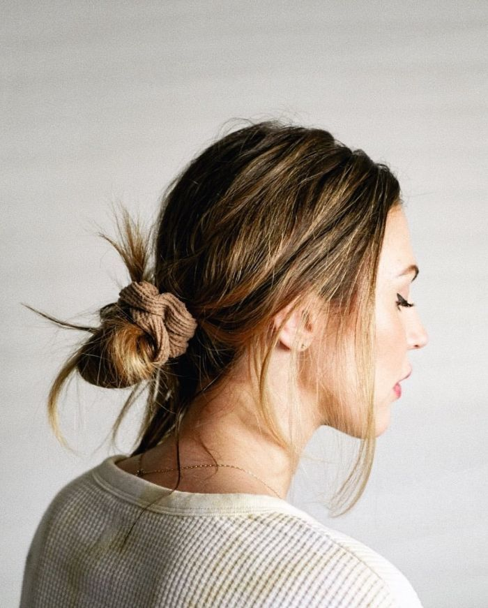 Brötchen für glattes Haar