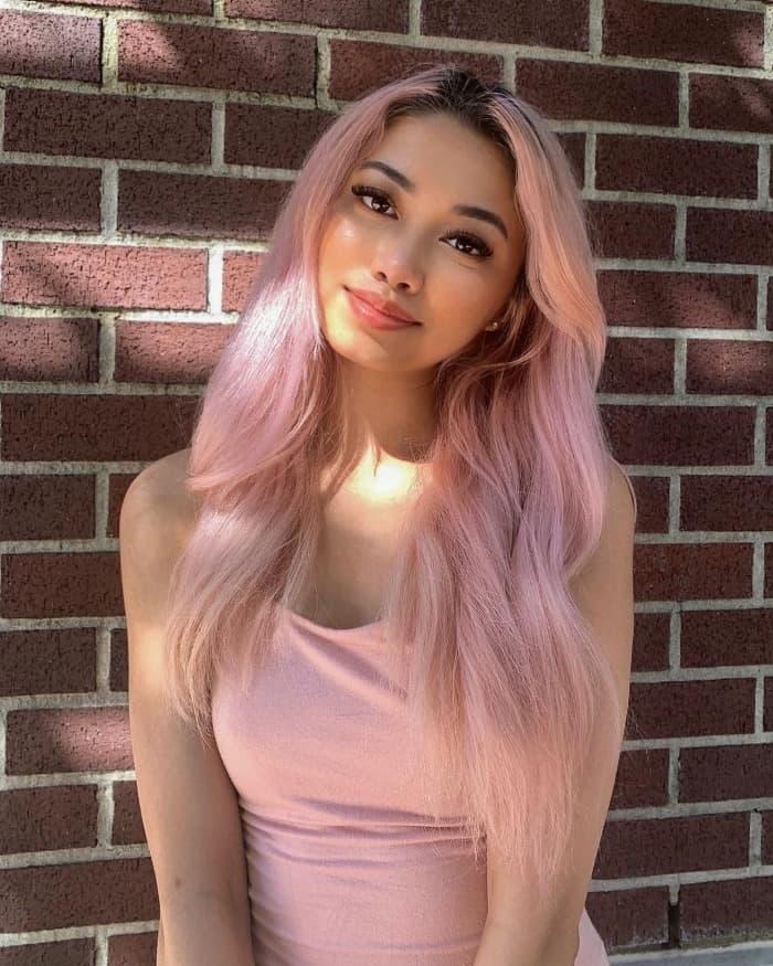 Weiches rosa Haar
