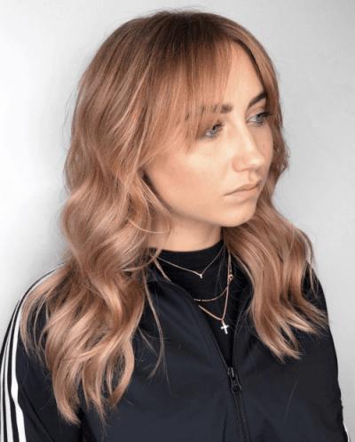 Haarfarbe Pfirsich