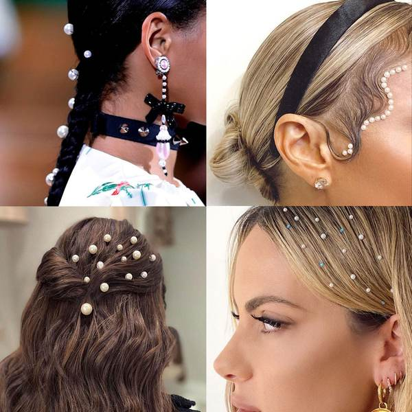 Perlenhaartrends für Bräute