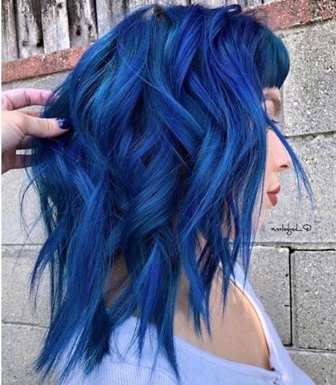 blaue schwarze kurze haare
