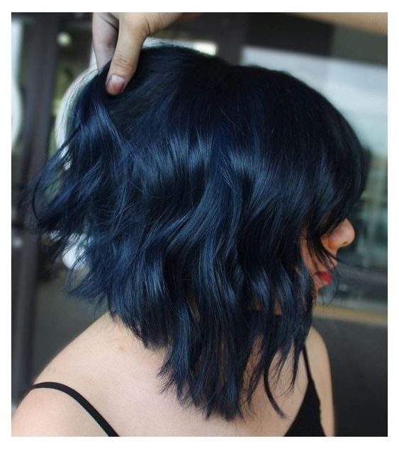 Meerjungfrau-blaues Ombre-Haar kurz