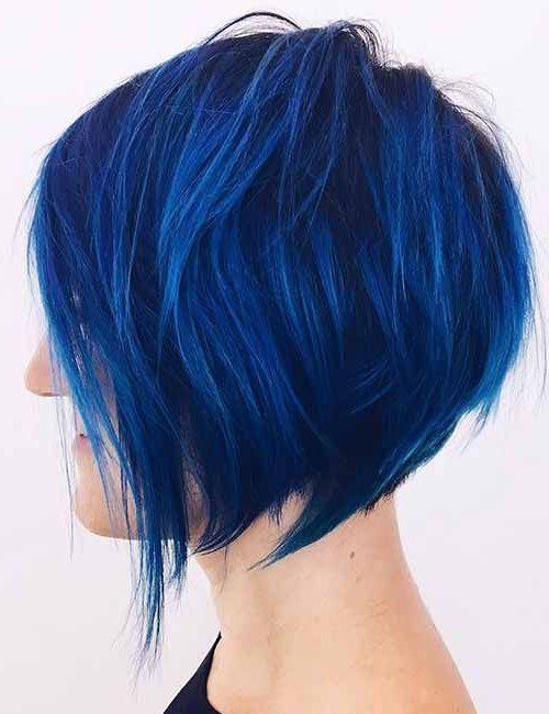 königsblau blau ombre kurzes haar