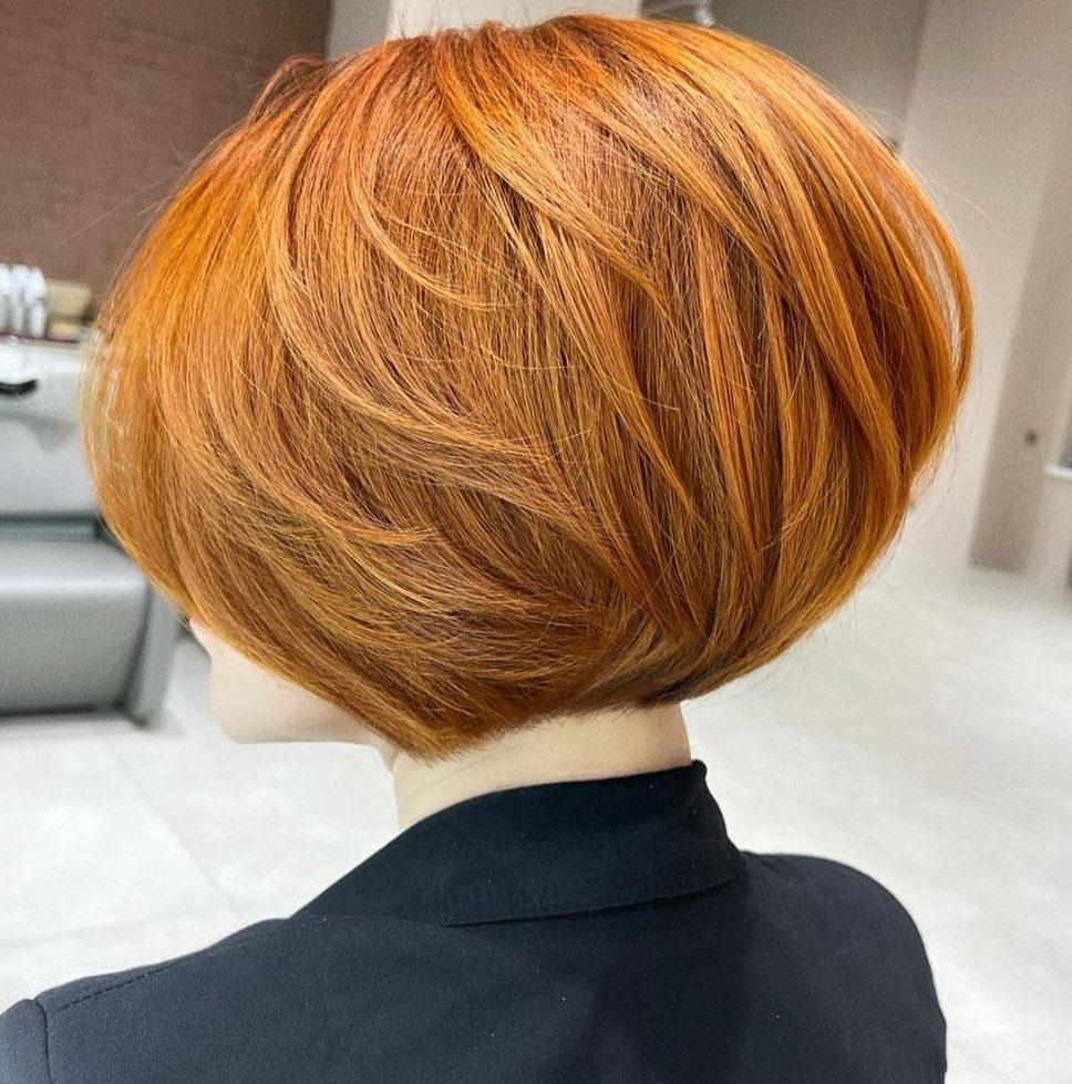feines kinnlanges Haar