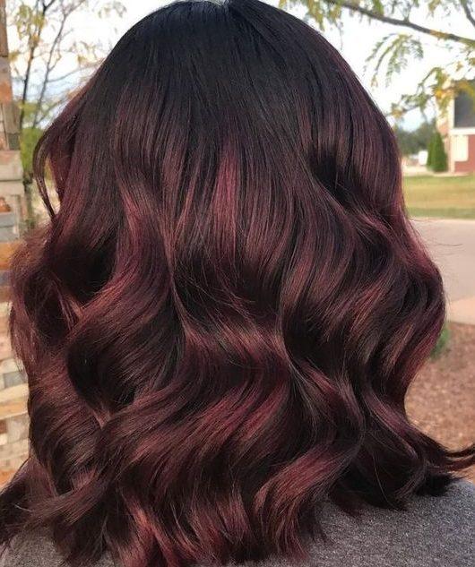 Auburn Kupfer Balayage kurzes Haar