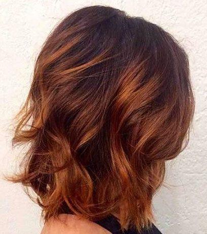 Braunes bis kupferfarbenes Ombre kurzes Haar