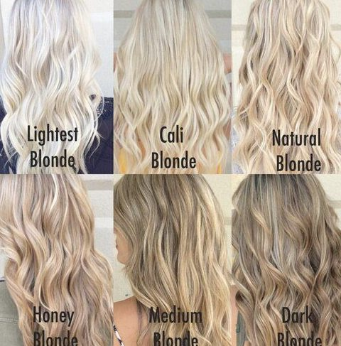 Ideen für blonde Haarfarbe