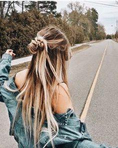 lässige unordentliche Frisuren für langes Haar