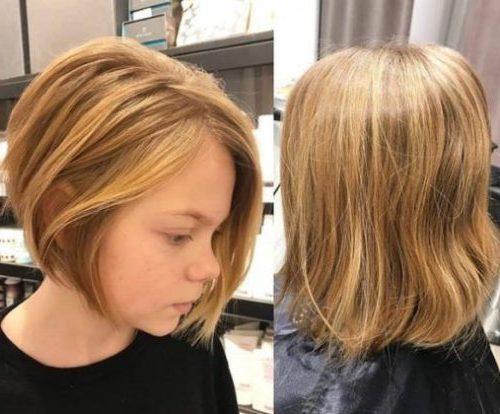 kleine Frisuren für Mädchen