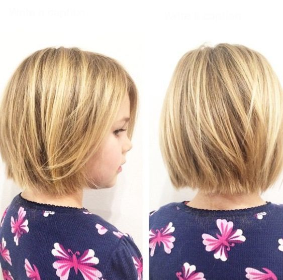 langer Bob-Haarschnitt für Mädchen