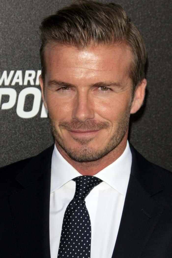David Beckham - Quadratisches Gesicht