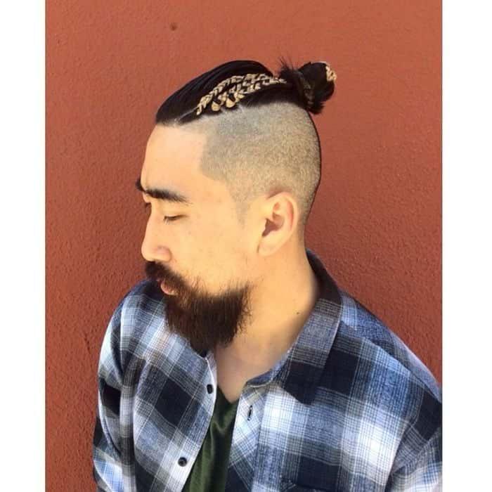 Frisuren für längliche Gesichtsform - Top Knot