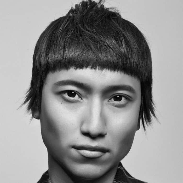 Frisuren für Herz-Gesichtsform - Lange Fransen