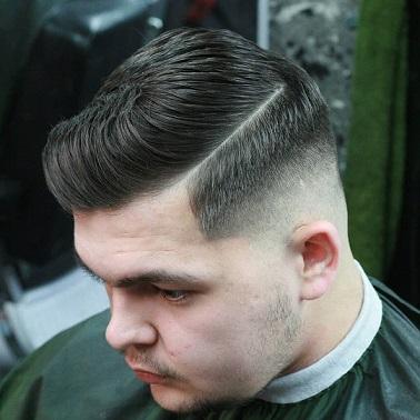 Der glatte Haarschnitt