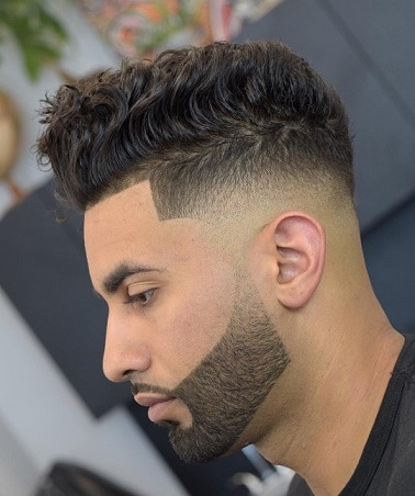 Wellig mit Low Fade