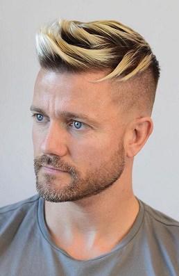 Blondes Haar mit Spikes im Trend