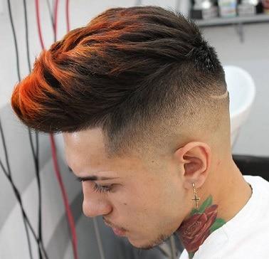 Gefärbtes Haar mit Stacheln für Jungen