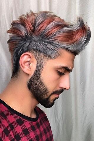 Coole lange und trendige Haarfarbe