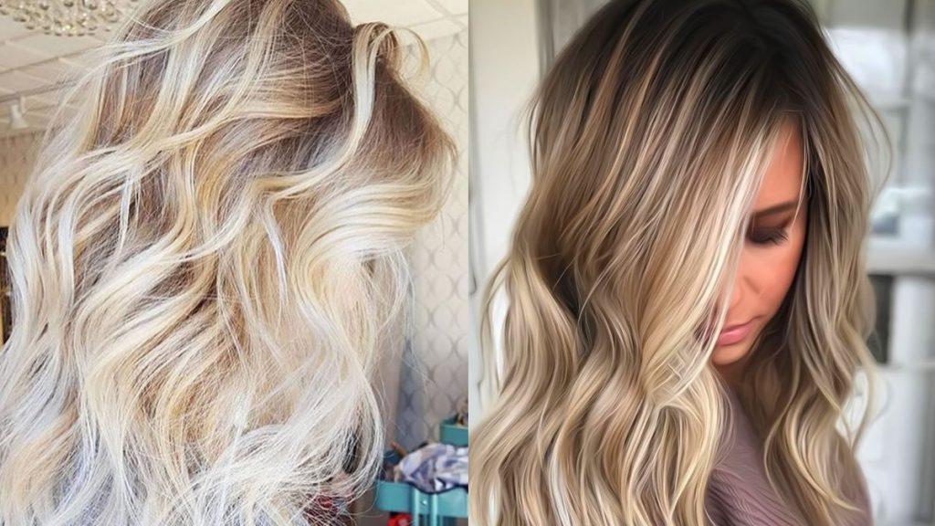 Blonde Balayage Haarfarben 2021-2022