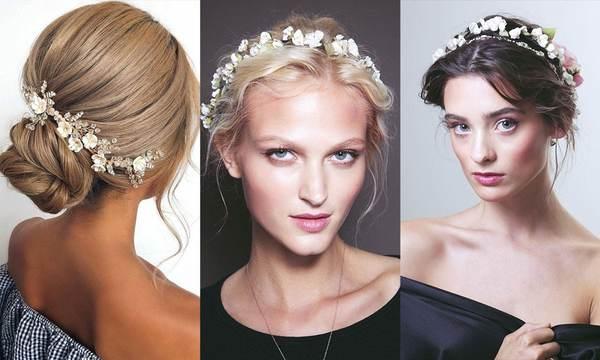 florale Haartrends für Bräute