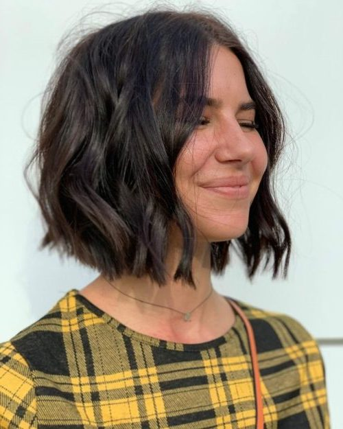 pflegeleichtes dickes Haar kurze Bob-Frisuren
