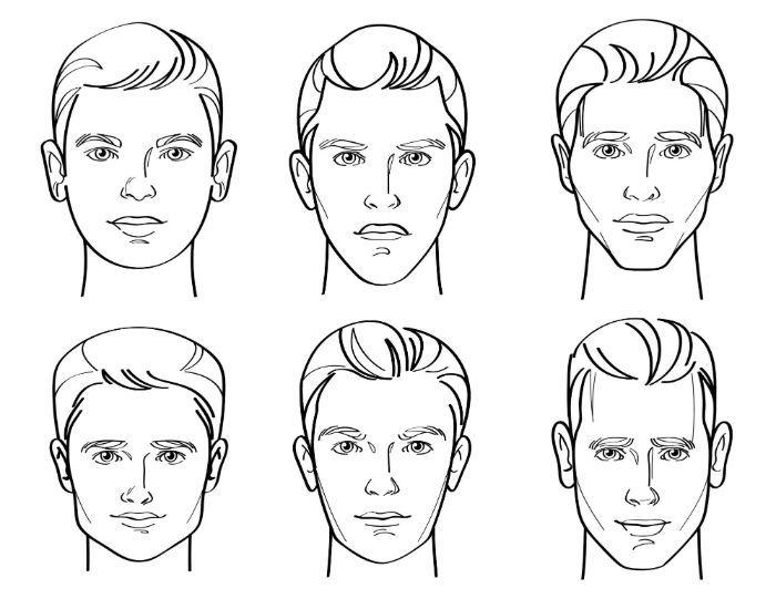 7 Arten von männlichen Gesichtsformen - 2