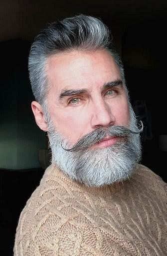 Patchy Beard Lenker Schnurrbart