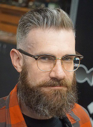 Hipster Dünne Frisur Männer