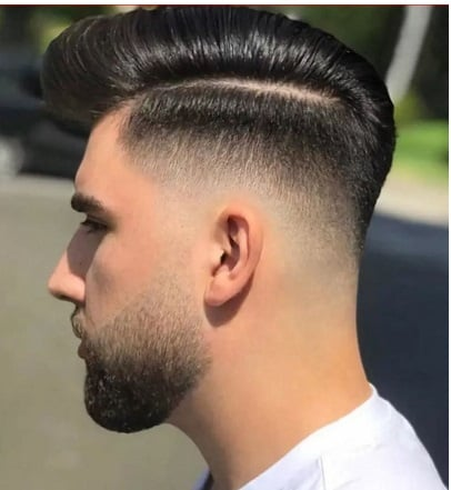 Clean Comb over mit Mid Fade