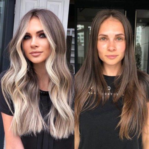 natürliche schmutzige blonde Haarfarbe