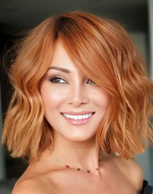 rotes kupferfarbenes Haar