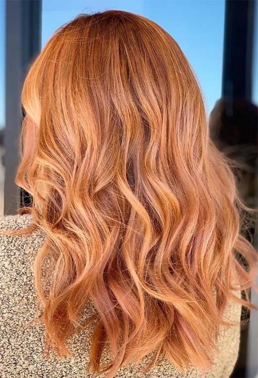 Erdbeerblondes Haar