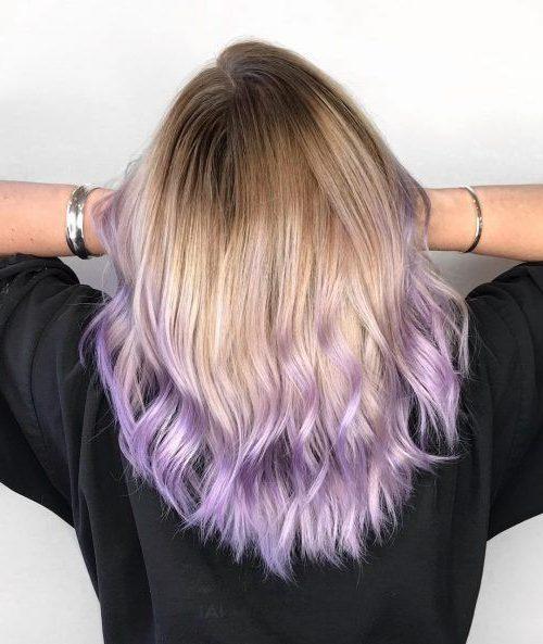 lila ombre haare